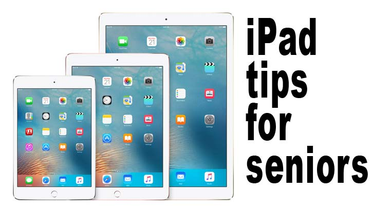 ipad tips for seniors