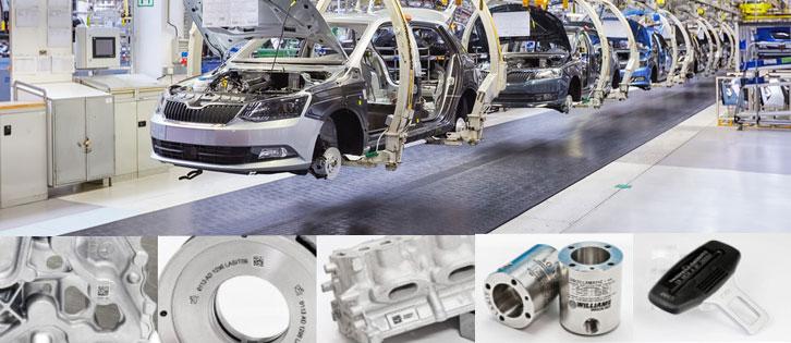 laser marking on automotive