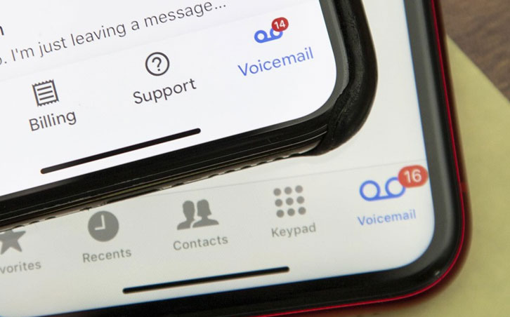 visual voicemail on iphone